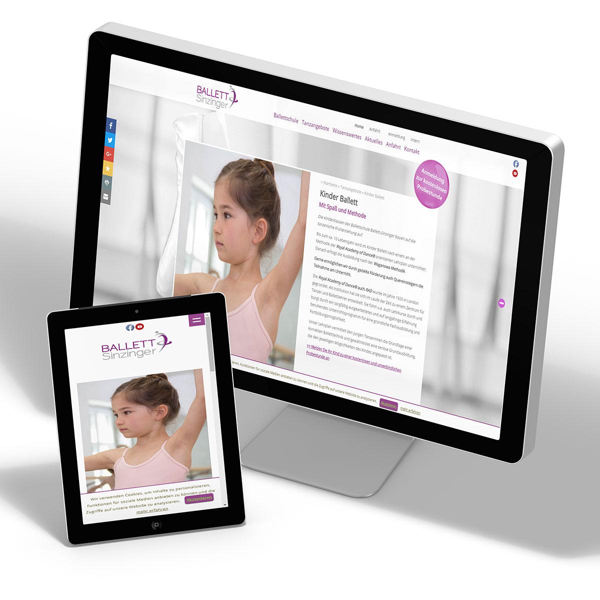 Website - Ballettschule
